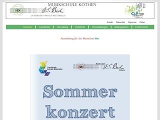 Vorschaubild der Webseite Musikschule Johann Sebastian Bach