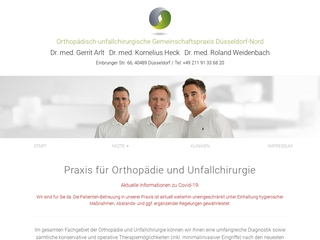 Vorschaubild der Webseite von Orthopädisch-unfallchirurgische Gemeinschaftspraxis Düsseldorf-Norf