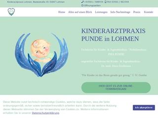 Vorschaubild der Webseite von Kinderarztpraxis Punde in Lohmen