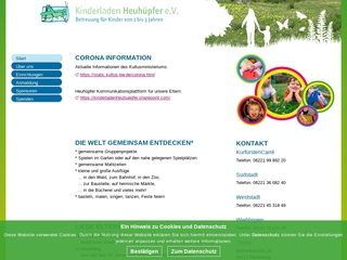 Vorschaubild der Webseite Kinderladen Heuhüpfer e.V. Wieblingen