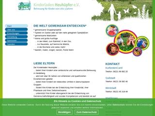 Vorschaubild der Webseite Kinderladen Heuhüpfer e.V. Weststadt