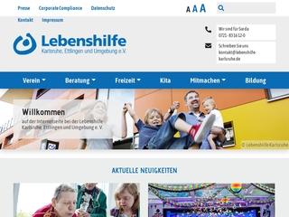 Vorschaubild der Webseite Kindertagesstätte im Lebenshilfehaus