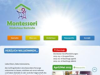 Vorschaubild der Webseite Montessori-Kinderhaus
