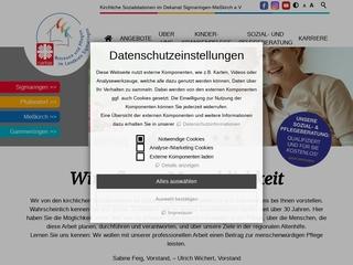 Vorschaubild der Webseite Caritas Sozialstation