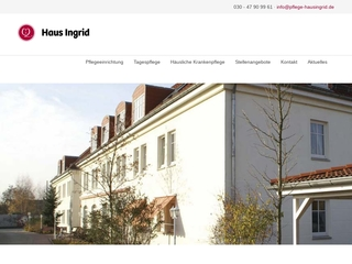 Vorschaubild der Webseite von Tagespflege Haus Ingrid & Alte Feuerwache