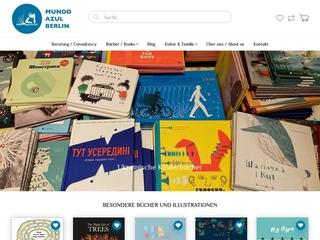 Vorschaubild der Webseite Internationale Kinderbuchhandlung mundo azul