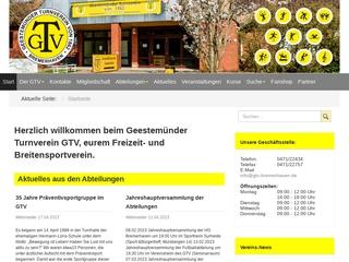 Vorschaubild der Webseite Geestemünder Turnverein von 1862 e.V.
