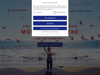 Vorschaubild der Webseite Möwen-Apotheke