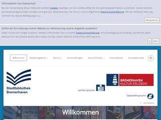Vorschaubild der Webseite Stadtbibliothek Bremerhaven