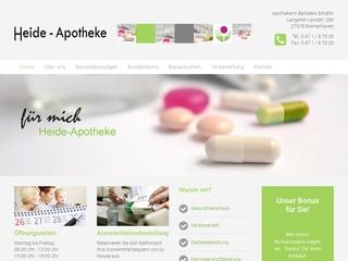 Vorschaubild der Webseite Heide-Apotheke