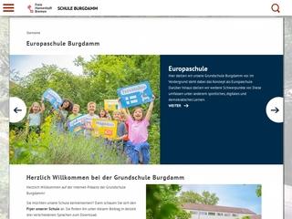 Vorschaubild der Webseite von Grundschule Burgdamm