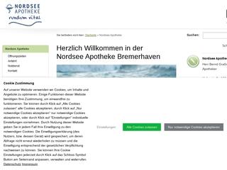 Vorschaubild der Webseite Nordsee-Apotheke