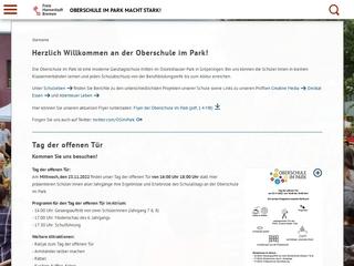 Vorschaubild der Webseite von Schule Am Oslebshauser Park