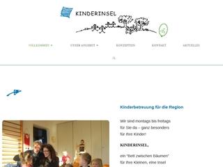 Vorschaubild der Webseite Großkindertagespflege Kinderinsel