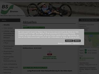 Vorschaubild der Webseite Sportgemeinschaft für Behinderte Bremen e.V.