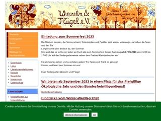 Vorschaubild der Webseite von Waldkindergarten Wurzeln und Flügel e.V.