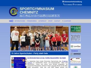 Vorschaubild der Webseite von Sportgymnasium Chemnitz