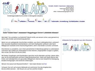 Vorschaubild der Webseite von Kindertagesstätte Blauland