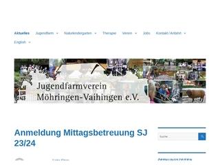 Vorschaubild der Webseite Jugendfarm Möhringen-Vaihingen e.V.
