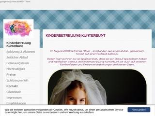 Vorschaubild der Webseite Kinderbetreuung Kunterbunt
