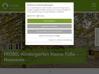 Vorschaubild der Webseite von FRÖBEL Kindergarten Kleine Füße-Naseweis