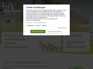 Vorschaubild der Webseite von Kindertagesstätte Pfiffikus