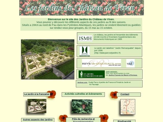 Les jardins du Château de Viven