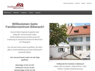 Vorschaubild der Webseite FamilienZentrum Biberach