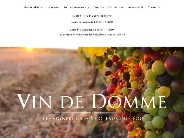 Vin de Domme : les vignerons des côteaux du Céou