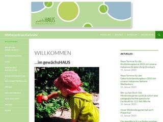 Vorschaubild der Webseite von gewächsHAUS Mütterzentrum Karlsruhe e.V.
