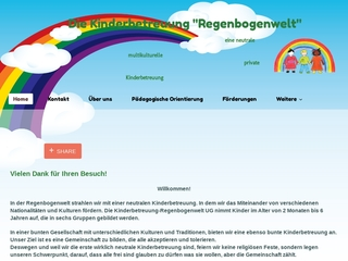 Vorschaubild der Webseite von Großkindertagespflege Regenbogenwelt