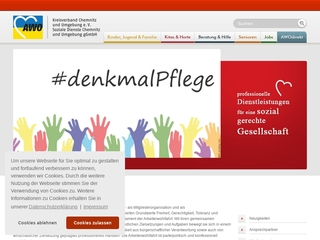 Vorschaubild der Webseite von AWO-Sozialstation Mitte