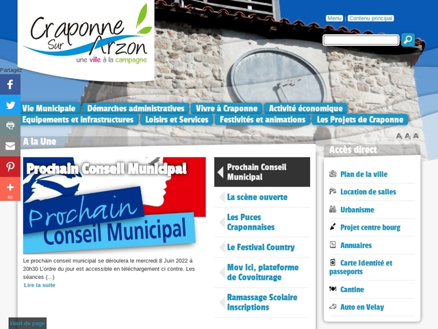 Craponne sur Arzon - CC de Craponne