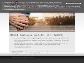 Vorschaubild der Webseite von Häusliche Krankenpflege Ina Jüschke