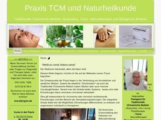Vorschaubild der Webseite Praxis Akupunktur, Naturheilkunde und Bewegungstherapie