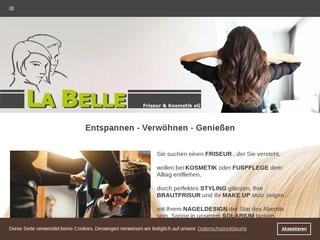 Vorschaubild der Webseite von La Belle - Mobile Friseur und Kosmetik eG