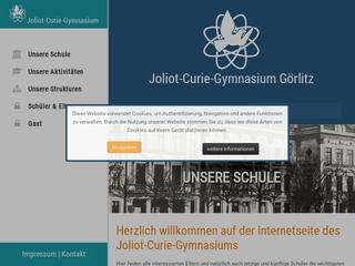 Vorschaubild der Webseite von Joliot-Curie-Gymnasium