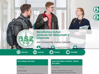 Vorschaubild der Webseite von Berufliches Schulzentrum für Wirtschaft II