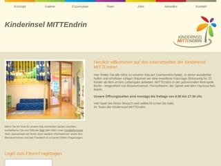 Vorschaubild der Webseite von Kindertagesstätte Kinderinsel Mittendrin