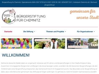 Vorschaubild der Webseite von Bürgerstiftung für Chemnitz