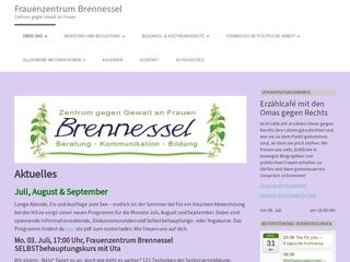 Vorschaubild der Webseite von Zentrum gegen Gewalt an Frauen Brennessel e.V.
