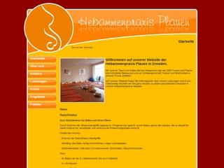 Vorschaubild der Webseite von Hebammenpraxis Plauen