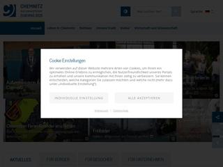 Vorschaubild der Webseite von Jugendamt Chemnitz