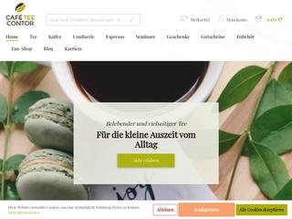 Vorschaubild der Webseite von Café-Contor