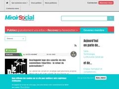 Miroir social, réseau informations sociales