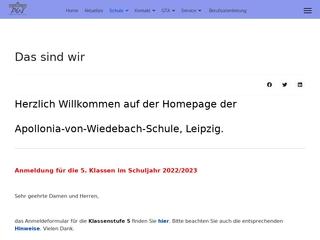 Vorschaubild der Webseite von Apollonia-von-Wiedebach-Oberschule
