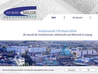 Vorschaubild der Webseite von Rechtsanwalt Ulf-Mario Milde