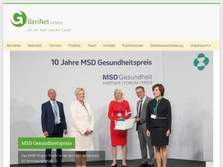 Vorschaubild der Webseite von GeriNet Nachtcafé - Ambulante Nachtpflege für Demenzbetroffene und ihre Angehörigen