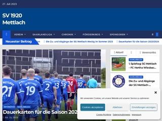 Vorschaubild der Webseite von SV Mettlach