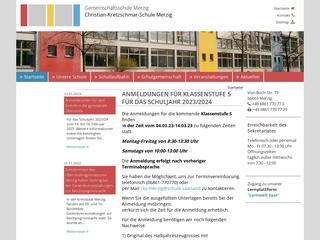 Vorschaubild der Webseite von Christian-Kretzschmar-Schule Merzig